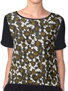 Brown Leopard Abstract Pattern  Chiffon Top