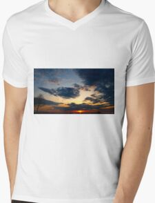 Broader scope of dusk Mens V-Neck T-Shirt