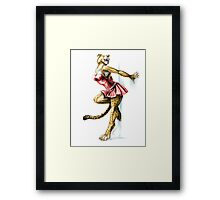Anklet - Anthro Cheetah Girl Pin Up Framed Print