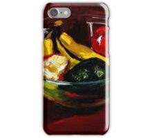 Fruit bowl on brown iPhone Case/Skin