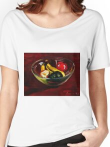 Fruit bowl on brown Women's Relaxed Fit T-Shirt