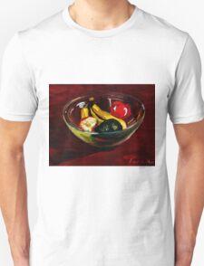 Fruit bowl on brown Unisex T-Shirt