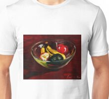 Fruit bowl on brown Unisex T-Shirt