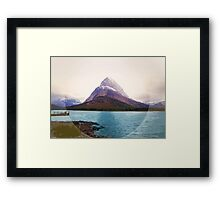 Many Glacier, Montana _ American Cutouts Framed Print