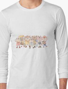 Cute Cartoon Pets Club Cats Long Sleeve T-Shirt