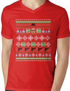 Heisenberg Holiday Sweater + Card Mens V-Neck T-Shirt