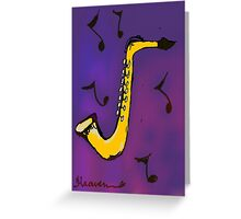 Sax Jazz Greeting Card