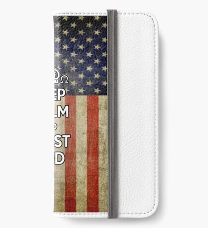 Religious Christian iPhone 6  Case Cover American Flag iPhone Wallet/Case/Skin