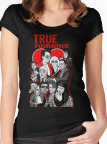 True Romance character collage art Women's Fitted Scoop T-Shirt