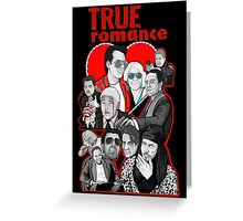 True Romance character collage art Greeting Card