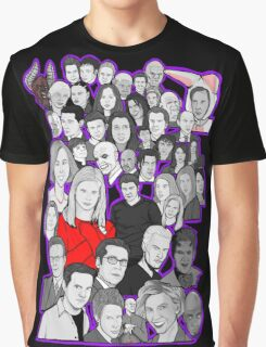 buffy the vampire slayer/Angel character collage Graphic T-Shirt
