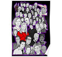 buffy the vampire slayer/Angel character collage Poster