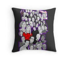 buffy the vampire slayer/Angel character collage Throw Pillow