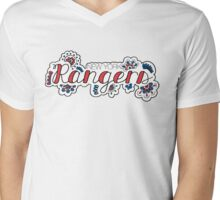 New York Rangers - Girly Mens V-Neck T-Shirt