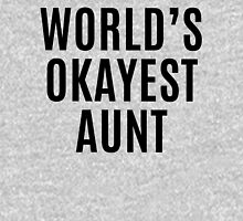 Worlds Okayest Aunt Womens Fitted T-Shirt
