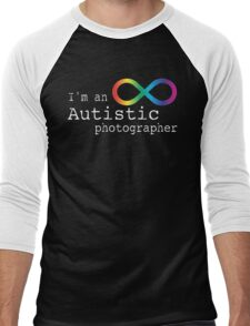Autistic Photographer Men's Baseball ¾ T-Shirt
