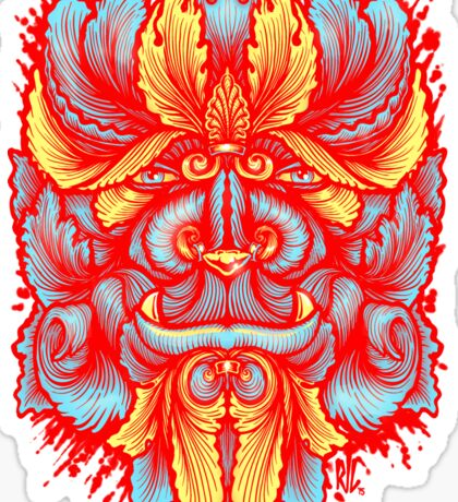 Filigree Leaves Forest Creature Beast Red Variant Sticker