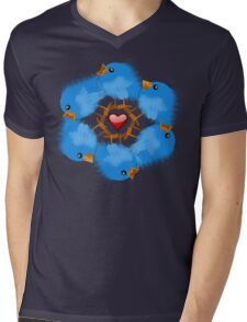 LOVE BIRDS Mens V-Neck T-Shirt