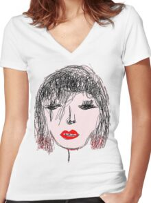 Face It Women's Fitted V-Neck T-Shirt