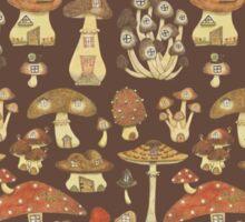 Mushroom Fairy Houses Sticker