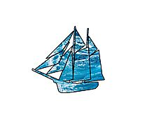 Sailboat Outline Photographic Print
