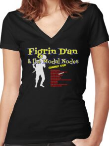 Figrin D'an and the Modal Nodes Women's Fitted V-Neck T-Shirt