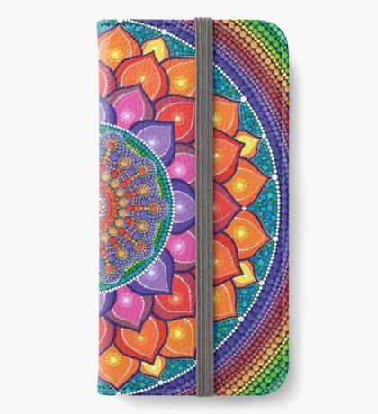 Lotus Rainbow Mandala iPhone Wallet