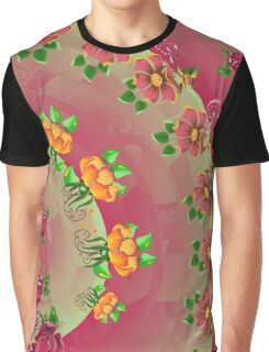 FOLKART ~ FLORAL ~ Rose Rambling by tasmanianartist Graphic T-Shirt