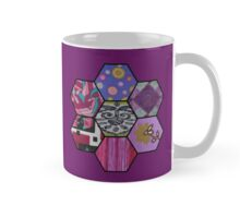 Patchwork in Pinks and Purples Mug