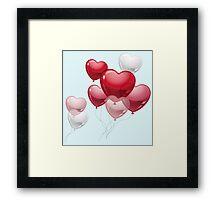 Love Balloon Framed Print