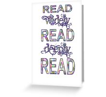 Read Sequence One Greeting Card