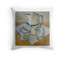 Still Life in White Throw Pillow