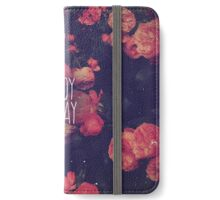 Enjoy Today With Pink Roses iPhone Wallet/Case/Skin