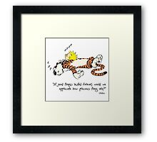 Calvin and hobbes best quotes Framed Print