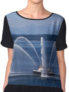 Seattle Fireboat Chiffon Top