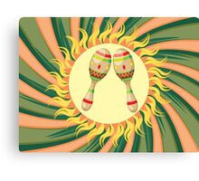 Pair of Maracas Canvas Print