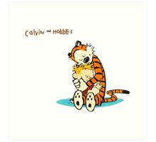 hug calvin and hobbes Art Print