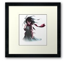 mikasa in the wind attack on titan  Framed Print