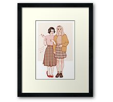 audrey and laura Framed Print