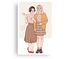 audrey and laura Canvas Print