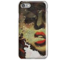 Woman Red Lips Smoking Grunge  iPhone Case/Skin