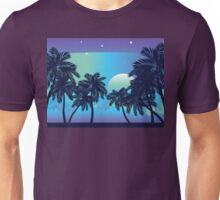 Palm Tree at Night 2 Unisex T-Shirt