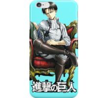 levi from attack on titan throne design iPhone Case/Skin