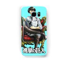 levi from attack on titan throne design Samsung Galaxy Case/Skin