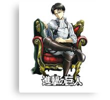 levi from attack on titan throne design Canvas Print