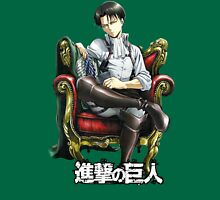 levi from attack on titan throne design Unisex T-Shirt