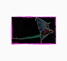 Flying Dragon Kite on Black Unisex T-Shirt