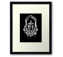 Escaping from the crypt, the King of Dead returns to earth!  Framed Print