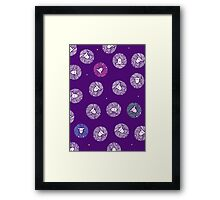 Ditsy Yarn Ball Sheep Framed Print