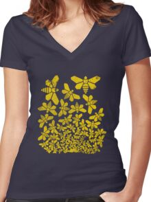 Breaking Escher Women's Fitted V-Neck T-Shirt
